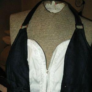 Other - 1 blue & 1 black denim halter shirt w/zipper